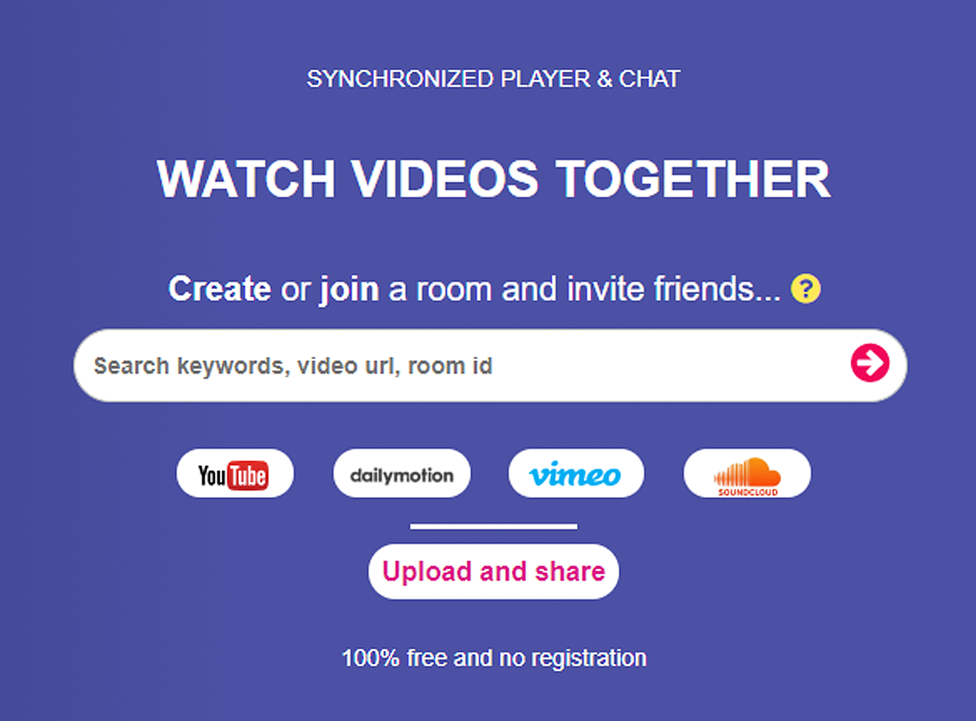 Free web sites for synchronized playback | Watch Together